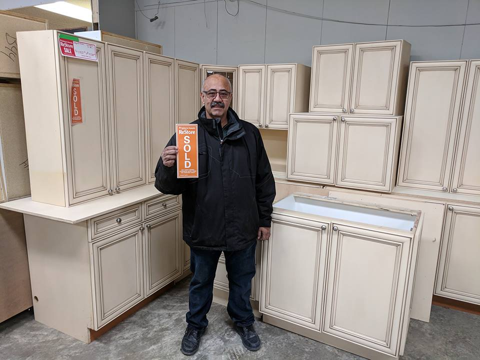 Kitchen cabinets for sale in our ReStores.